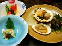 さつまいもの和えもの&煮物&貝の盛り合わせ