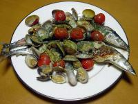 「秋刀魚のアクアパッツァ」