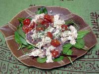 モッツァレアとトマトのカプレーゼ 塩辛和え