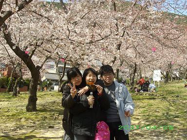 安部山公園花見4