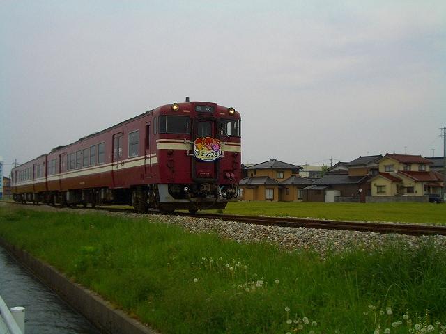 生鉄x2。臨時列車チューリップ号。