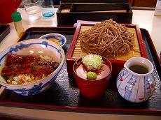 ざる蕎麦の鰻丼セット