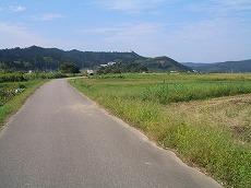上庄川旧橋を進む。ここから1kmは当時の道筋。