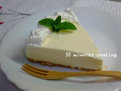 「デザート」★ハニーレモンのレアチーズケーキ♪