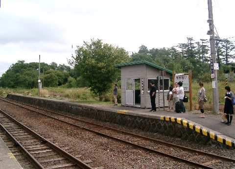 茶内駅ホーム