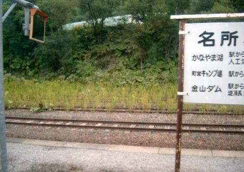 東鹿越駅と側線