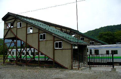 落合駅の跨線橋