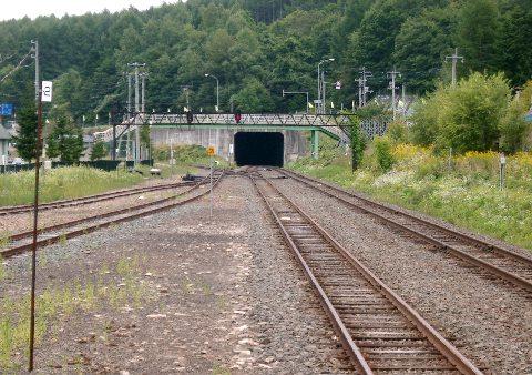 落合駅の線路