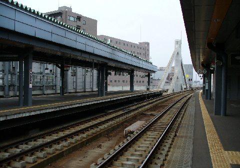 帯広駅のホーム