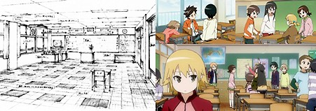 今日の5の2 (TVアニメ版) 5年2組教室の座席
