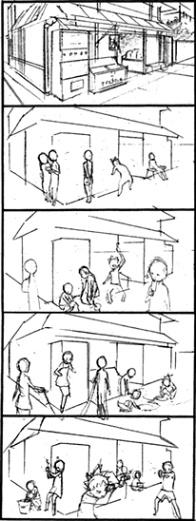TVアニメ版 今日の5の2 オープニング絵コンテ