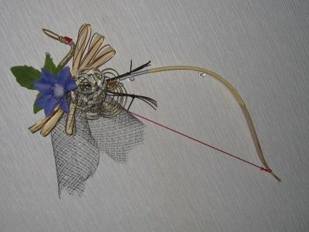 071104-テッセンと水引鶴の弓ブーケ