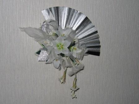 071125-白桔梗とダウンフェザーの銀扇ブーケ