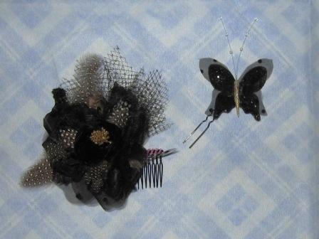 071216-黒金バラ&蝶