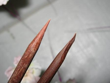 箸で作った塗り棒