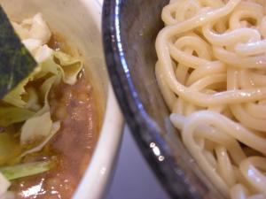 08120713満帆太田・塩チャーシューぶたぶたつけめん 麺&スープアップ
