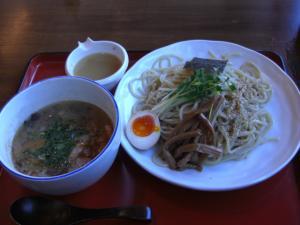 09010414竹風・つけ麺 キノコと鶏肉つけ(小200g)740円