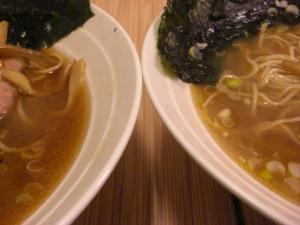 09010619燵家製麺・スープアップ ㊧醤油 ㊨塩