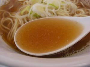 09030814みどり・限定『煮干しそば』 スープアップ