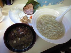 09032120燵家製麺・釜揚げつけ麺 750円