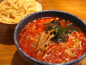 09041120大蔵・辛味噌つけ麺(大辛) 850円 (中盛+100円 400g)