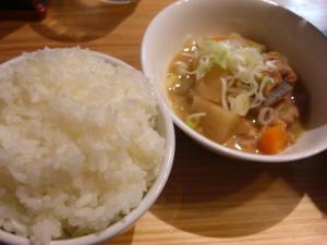 09060820長谷川・Cセット 麺類+350円(もつ煮+ライス)