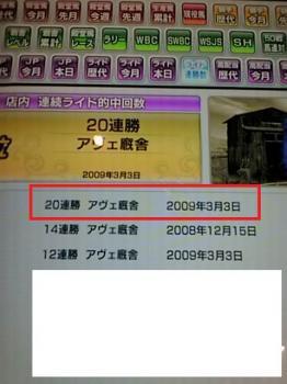 アヴェ(20連勝)