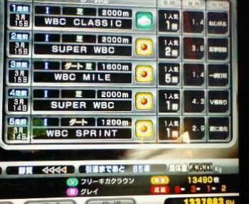 WBCC成績1着