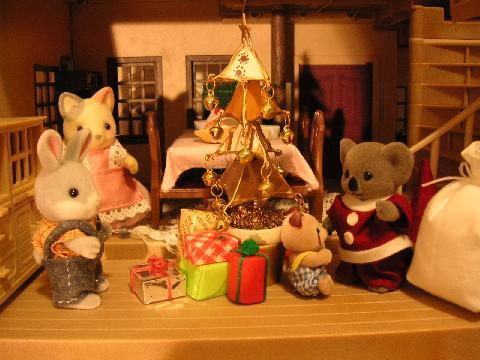 茶ツリーと手作り服