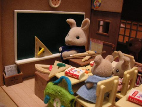 教室で授業 算数