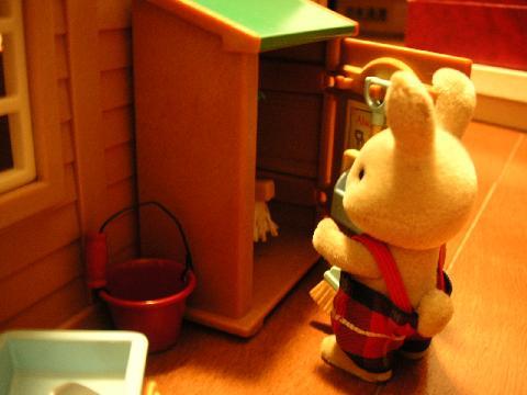 学校ウサギ掃除用具