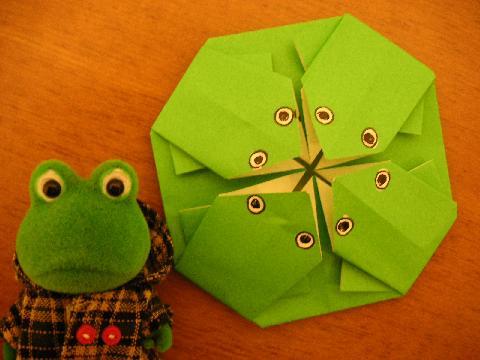 カエル折り紙