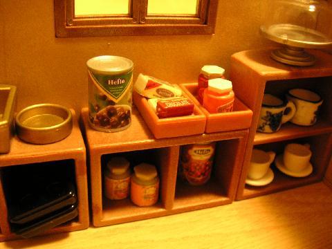 製菓材料屋さん棚