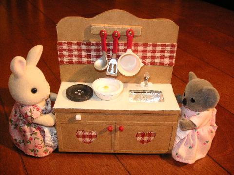 ダンボールキッチン ウサギコアラ