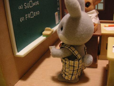 わたウサギ黒板