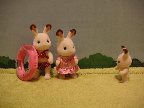 ショコラウサギ浮き輪2