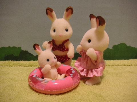 ショコラウサギ浮き輪6