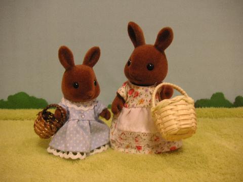 ブラウンウサギ買い物1