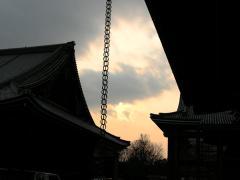 西本願寺の夕日