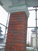 玄関柱のレンガタイル