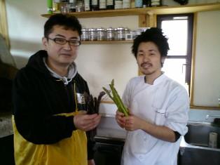 野菜ソムリエ木村正晃と新潟店シェフ広瀬一樹