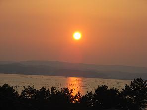 和倉温泉からの夕景