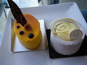 ミュゼ・ド・アッシュ 1周年記念ホワイトムースケーキとシトロンムース