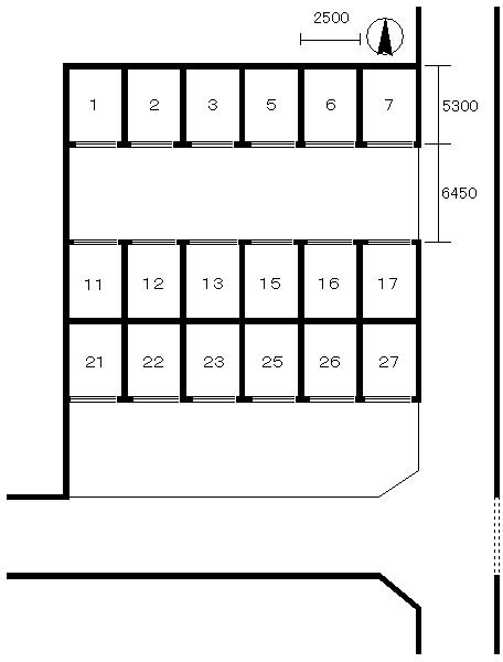 西立花町2丁目シャッター付きガレージ配置図