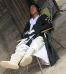砂漠でお昼寝