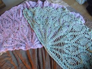 手編みショール♪