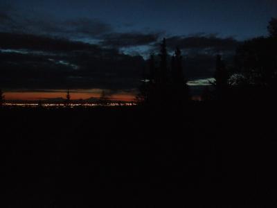 真夜中の1時の夕焼け