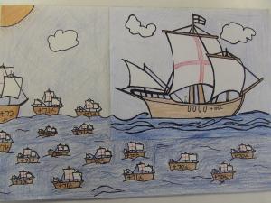 コロンブス紙芝居☆17の船