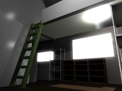 アパート室内:入り口から2