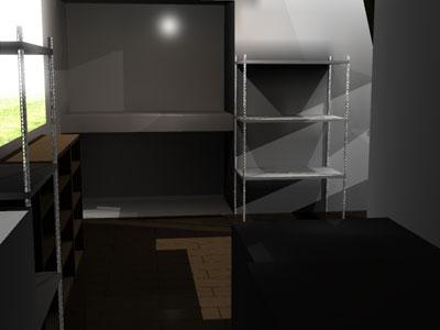 アパート室内:風呂側から